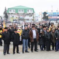 В Кущевской состоялся митинг в защиту трудовых прав