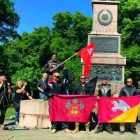 «Ночные волки» провезли флаг Кущёвского района через всю Европу
