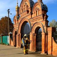Кущёвский храм продезинфицировали