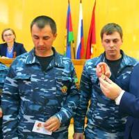 Кущёвские пожарные принимают поздравления